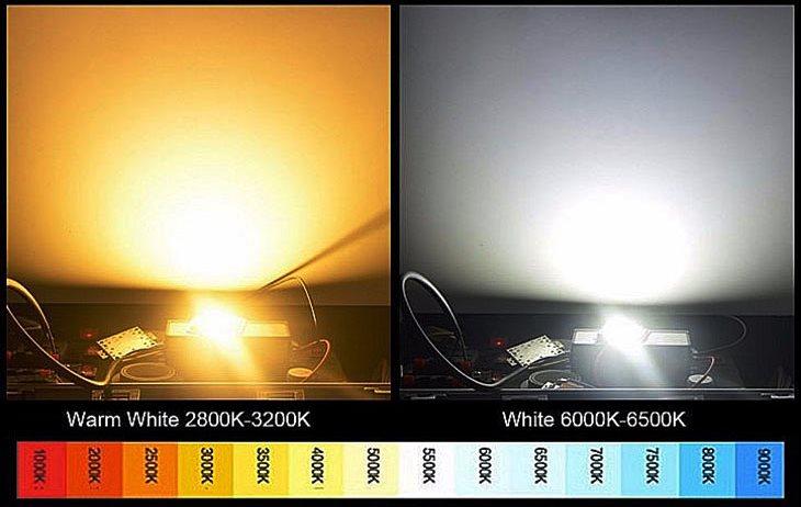 Цветовая температуры: 6000 К (ксенон белый)