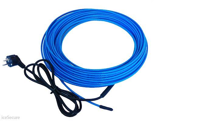 Комплекты греющего кабеля с 2х метровым проводом и вилкой мощность 10 Вт/м при 0°С