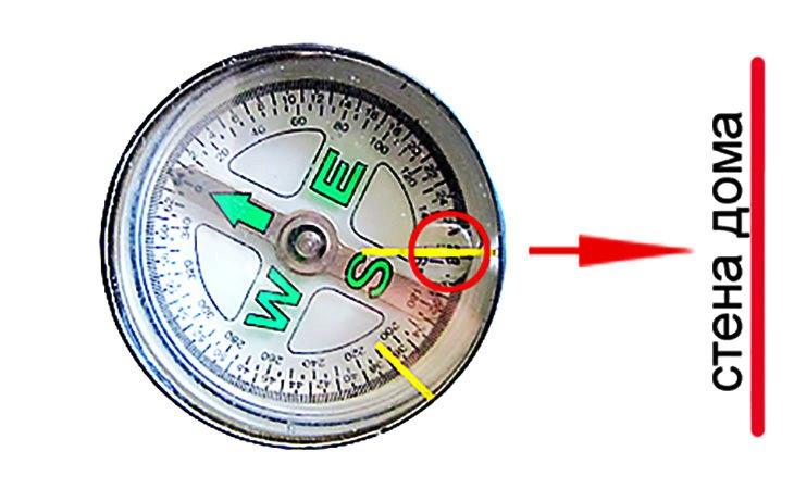 Поиск проводки компасом