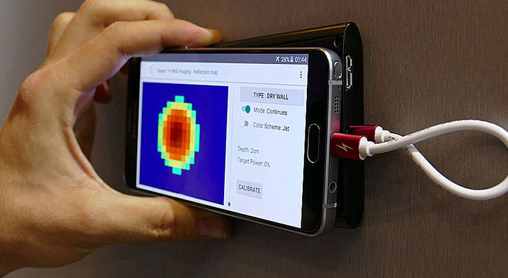 Сканер проводки для смартфона walabot