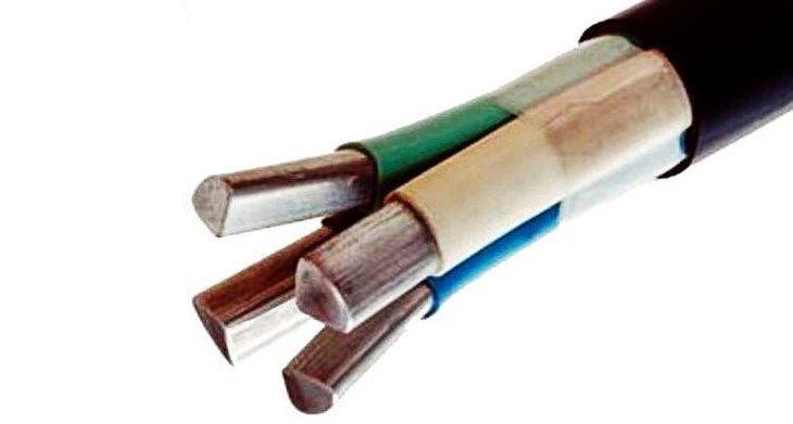 Силовой кабель с алюминиевыми жилами
