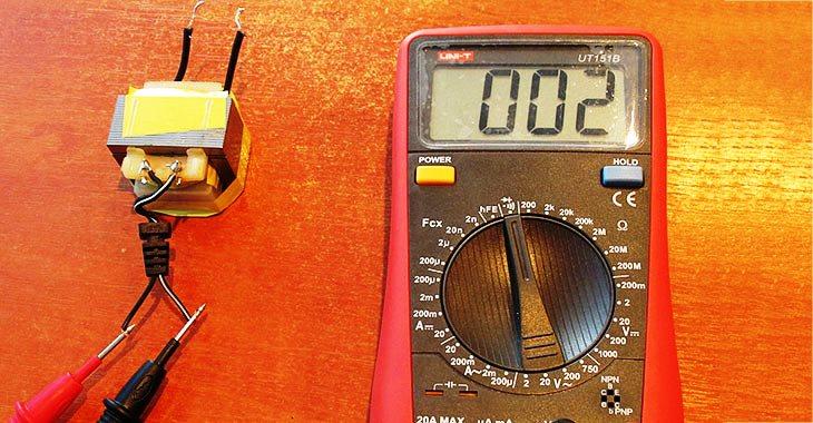 Как проверить трансформатор мультиметром