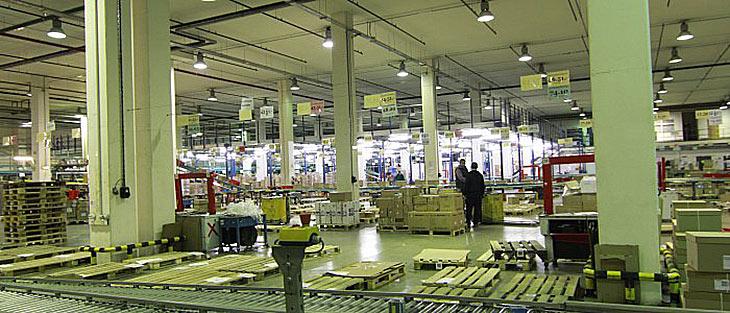 Освещение складских помещений