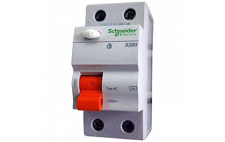 Дифференциальный выключатель нагрузки (УЗО) Schneider Electric ВД63 Домовой, 40А, 30мА