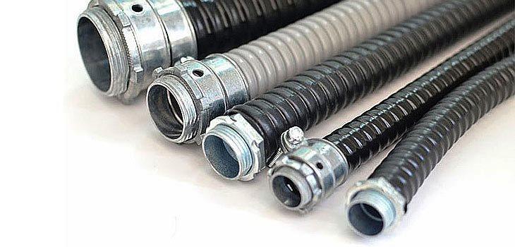 Гибкие металлические трубы для электропроводки