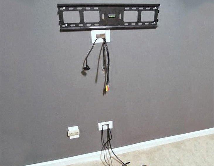 Как спрятать провод от телевизора на стене