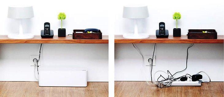 Как скрыть провода с помощью коробки
