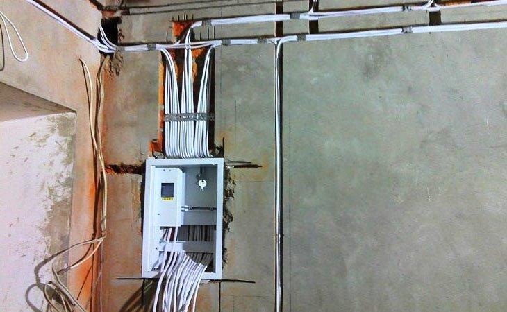 Установка проводки в гараж