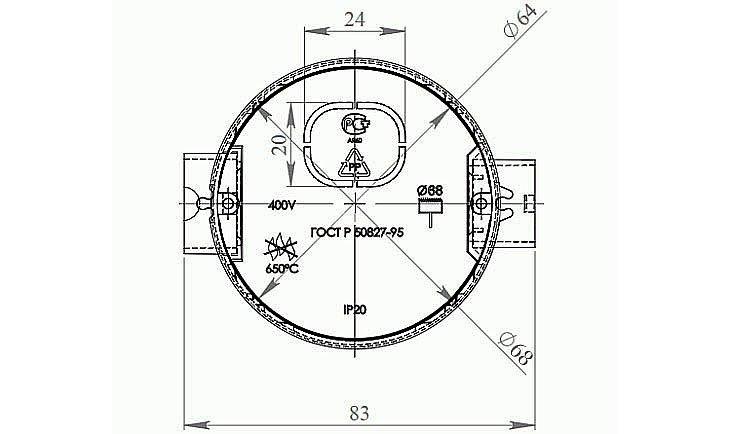Основные параметры стандартного подрозетника