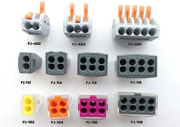 Клеммники wago для соединения провода