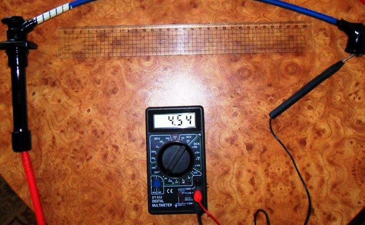 Проверка проводов мультиметром