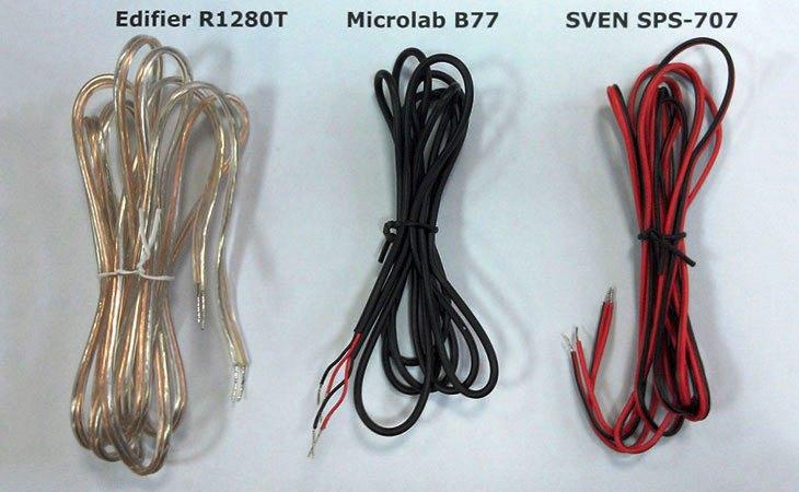 Провода Edifier R1280T, microlab B77 и SVEN SPS-707