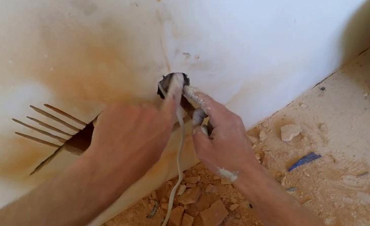 Удлинение провода и перенос розетки