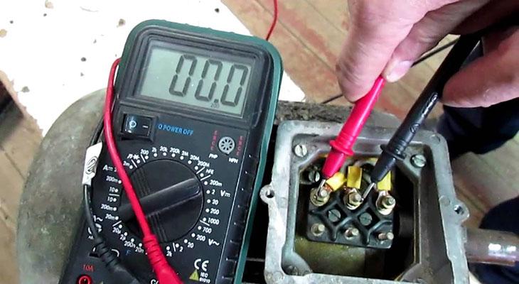 Определение обмоток электродвигателя.