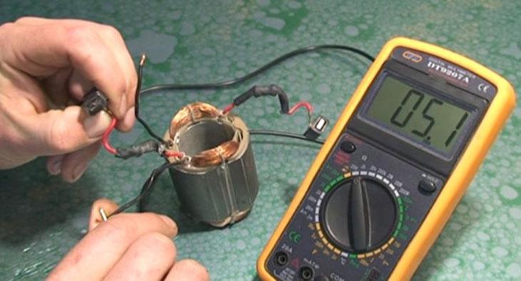 Прозвонка статора коллекторного двигателя