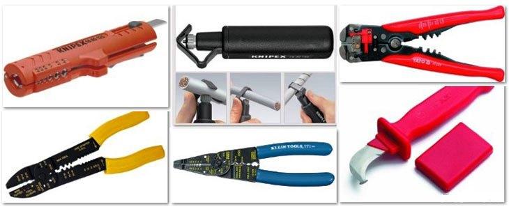Инструмент для снятия изоляции с проводов (стрипперы)