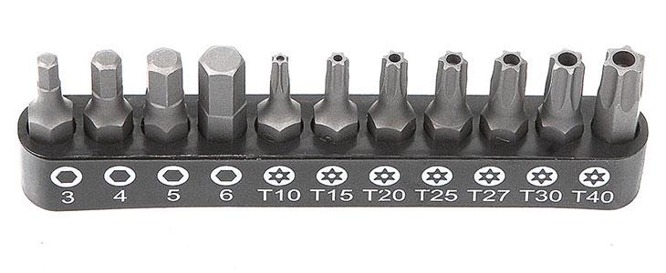 "Набор бит 1/4"" 25 мм на держателе TORX c отв"