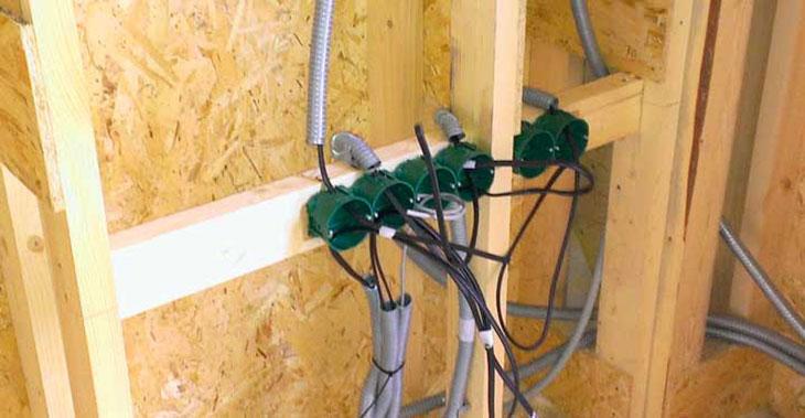 Электропроводка скрытая в стенах