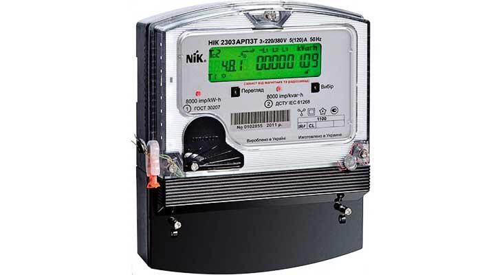 НИК 2303 АРП3 активной и реактивной энергии двунаправленный многотарифный ЖКИ счетчик