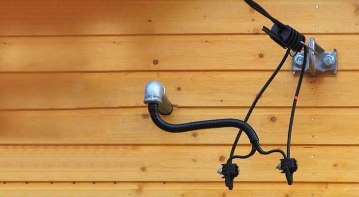 Подвод электричества к дому кабелем СИП