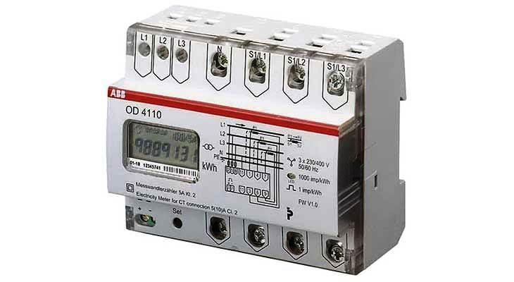 Счетчики электроэнергии трехфазные ABB