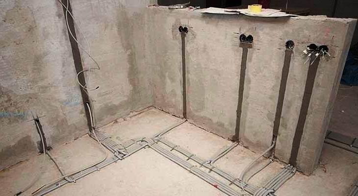 Ннапольная прокладка электропроводки