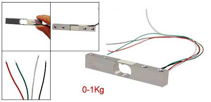 Тензометрический датчик на 1 кг