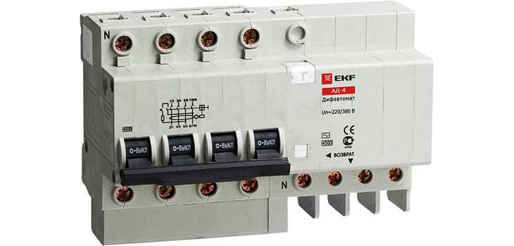 Дифференциальный автомат АД-4S 50А/100мА