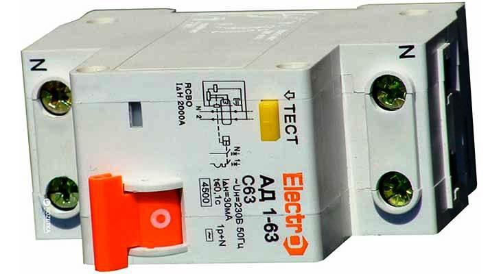 Дифференциальный автомат ElectrO АД 1-63 1+N 20 А 30 мА
